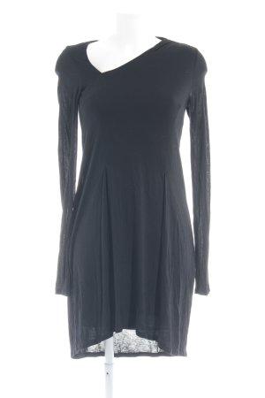Patrizia Pepe Robe t-shirt noir style décontracté