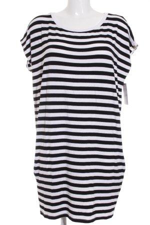 Patrizia Pepe Shirtkleid schwarz-weiß Streifenmuster Casual-Look