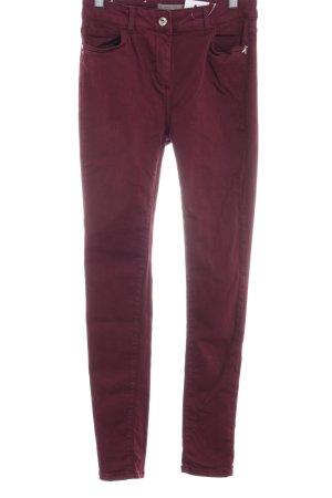 Patrizia Pepe Skinny Jeans karminrot Casual-Look