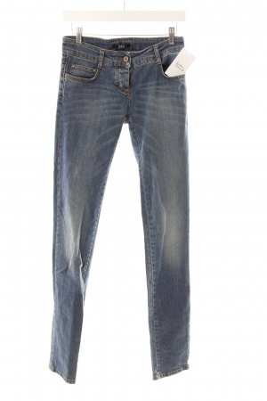 Patrizia Pepe Slim Jeans kornblumenblau Used-Optik