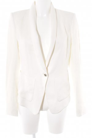 Patrizia Pepe Blazer de esmoquin blanco puro-crema estilo «business»