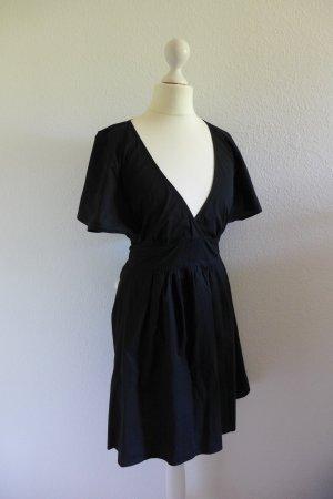 Patrizia Pepe Sommer Kleid kurz Wickelkleid schwarz Gr 36 (38)