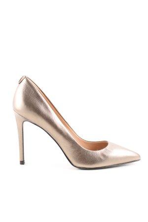 Patrizia Pepe Spitz-Pumps goldfarben Elegant