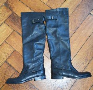 Patrizia Pepe Botas de equitación negro Cuero