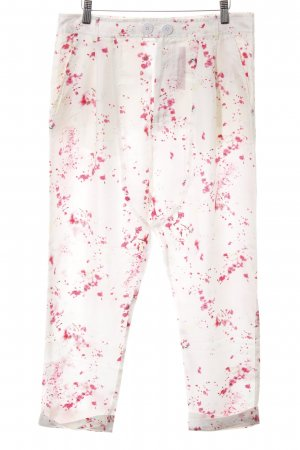 Patrizia Pepe Stoffhose weiß-pink abstraktes Muster Casual-Look
