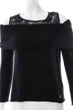Patrizia Pepe Strickpullover schwarz schlichter Stil