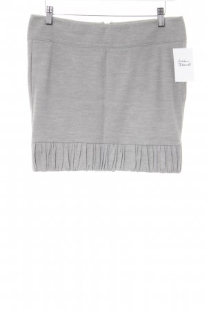 Patrizia Pepe Knitted Skirt light grey flecked casual look