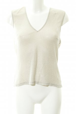 Patrizia Pepe Knitted Top oatmeal-gold-colored business style