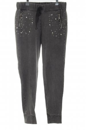 Patrizia Pepe Sweat Pants black glittery