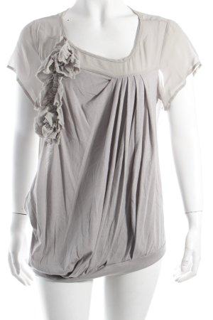 Patrizia Pepe T-Shirt hellgrau Casual-Look