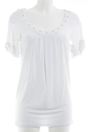 Patrizia Pepe T-Shirt weiß-silberfarben Elegant