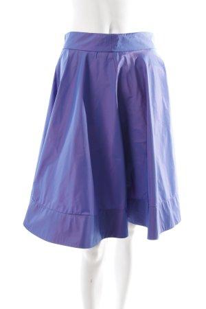 Patrizia Pepe Jupe en taffetas violet style mouillé