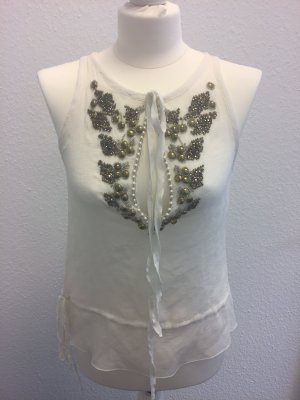 Patrizia Pepe-Top in wollweiss-Gr.38
