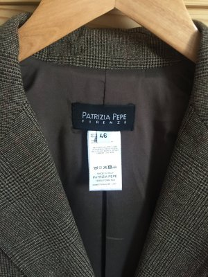 Patricia Pepe Wool Blazer grey brown-dark brown