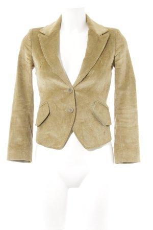 Patrizia Pepe Tweed blazer oker casual uitstraling