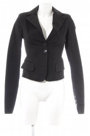 Patrizia Pepe Tweed blazer zwart zakelijke stijl