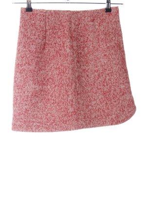 Patrizia Pepe Tweed rok rood-wit volledige print zakelijke stijl