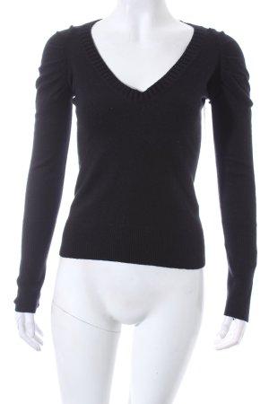 Patrizia Pepe V-Ausschnitt-Pullover schwarz sportlicher Stil