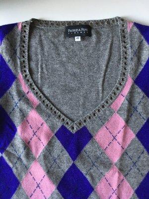 Patrizia Pepe V-Veck-Pullover mit Nieten am Ausschnitt, wie neu