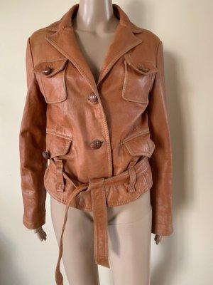 Patrizia Pepe Leather Jacket nude-beige