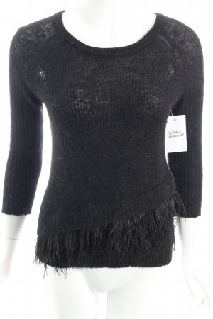 Patrizia Pepe Wool Sweater black street-fashion look
