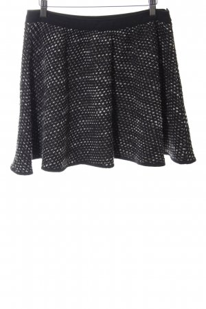 Patrizia Pepe Gonna di lana nero-bianco puntinato stile casual