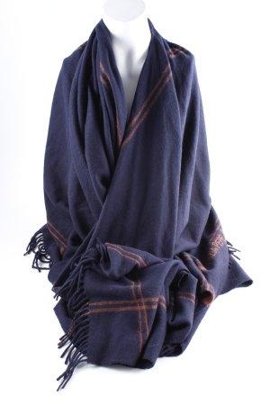 Patrizia Pepe Wollen sjaal donkerblauw-lichtbruin casual uitstraling