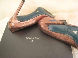 Patrizia Pepe ´Zauberhafte Luxus Heels Bronze Rosé Schimmer NP 289 € Neu
