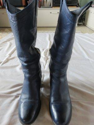 Pakros Jackboots blue leather