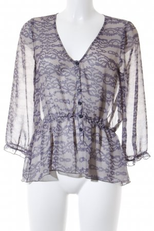 Patterson Slip-over blouse room-grijs-paars casual uitstraling