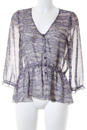 Patterson Camicetta da notte crema-viola-grigio stile casual