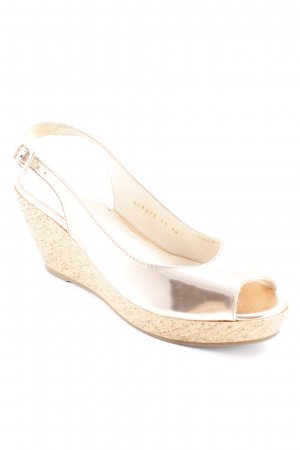 Paul Barritt Wedge Sandals rose-gold-coloured shimmery