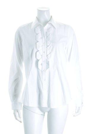 Paul Costelloe Hemd-Bluse weiß klassischer Stil