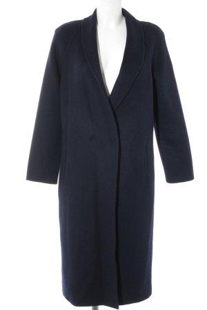 Paul Costelloe Cappotto in lana blu scuro stile casual