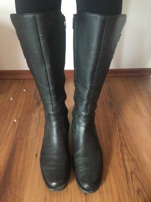 Paul Green 37.5 37 38 Lederstiefel Stiefel Leder schwarz grau