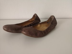 Paul Green Foldable Ballet Flats bronze-colored