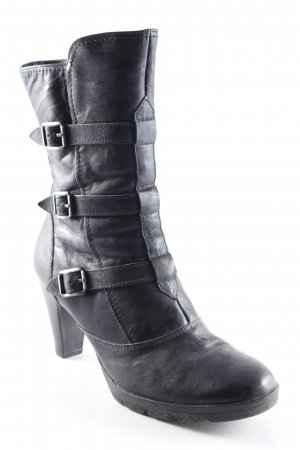 Paul Green Absatz Stiefel schwarz Street-Fashion-Look