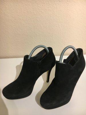 Paul Green Ankle Boots Stiefeletten Wildleder schwarz