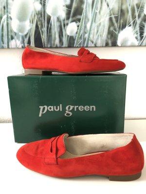 Paul Green Ballerina Loafer Slipper rot Gr 40 statt 115 eur