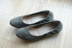 Paul Green Foldable Ballet Flats green grey leather