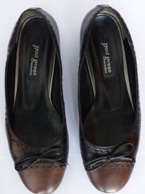 Paul Green Ballerinas Gr. 38, schwarz/braun
