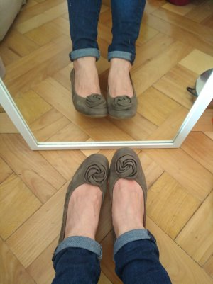 Paul Green Ballerinas Khaki 4,5