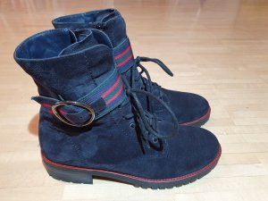 Paul Green Lace-up Booties dark blue leather