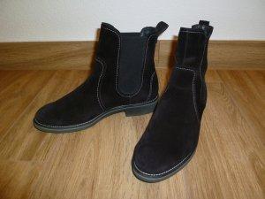 Paul Green Chelsea laarzen zwart-wit Suede