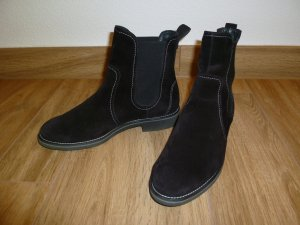 Paul Green Chelsea Boots black-white suede