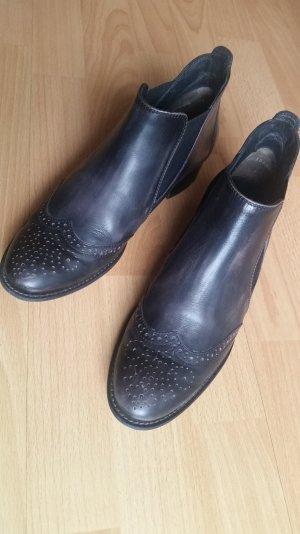Paul Green Chelsea Boots, schwarz, brushcalf