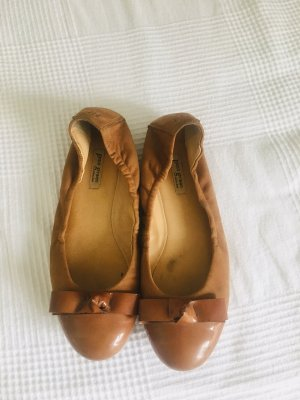 Paul Green Foldable Ballet Flats camel leather