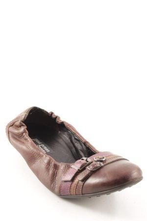 Paul Green Ballerines pliables brun-violet style décontracté