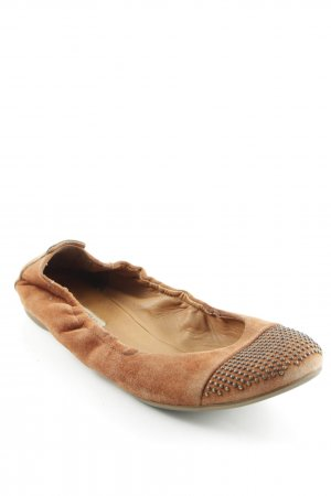 Paul Green faltbare Ballerinas hellbraun Casual-Look