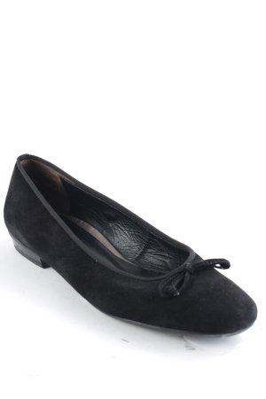 Paul Green Ballerines pliables noir style décontracté
